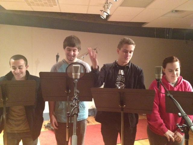 Evening Comedy team: (from left) Ben Blechman, Skyler Radis, Steve Nowicki, and Caitlin Kane