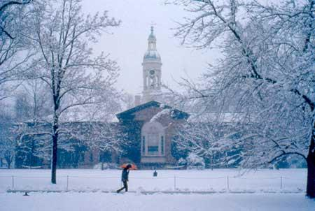 Princeton, NJ in winter, where music lives...