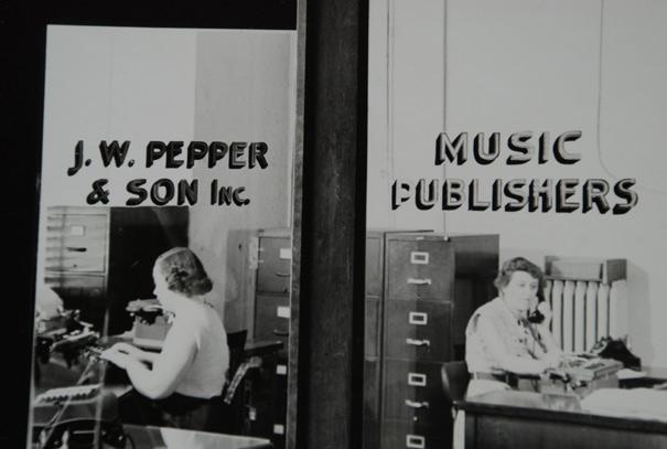 The J.W. Pepper building on Vine Street