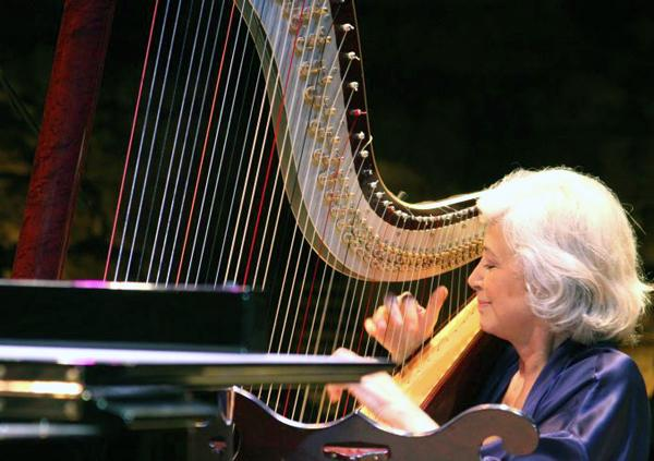Harpist Catherine Michel performs with the Chamber Orchestra of Philadelphia