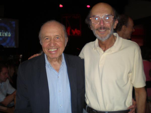 With jazz singer/songwriter Bob Dorough in 2013 at World Café Live, Philadelphia