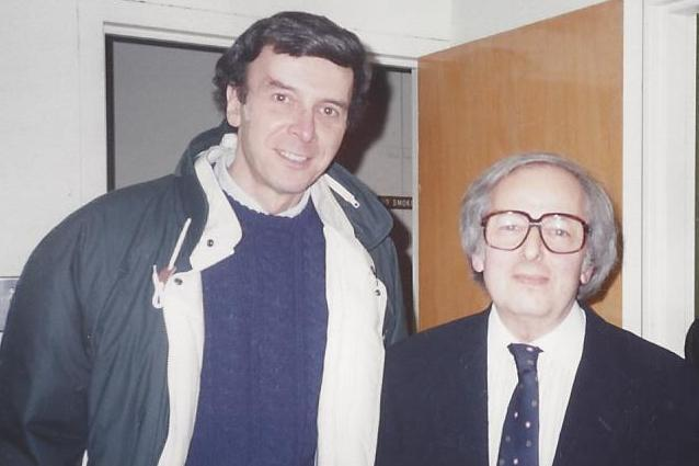 With Andre Previn in 1993 at the Academy of Music