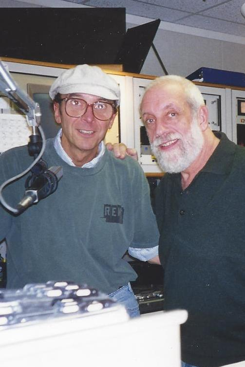 At WPEN, Philadelphia, with record producer Joel Dorn in 1998