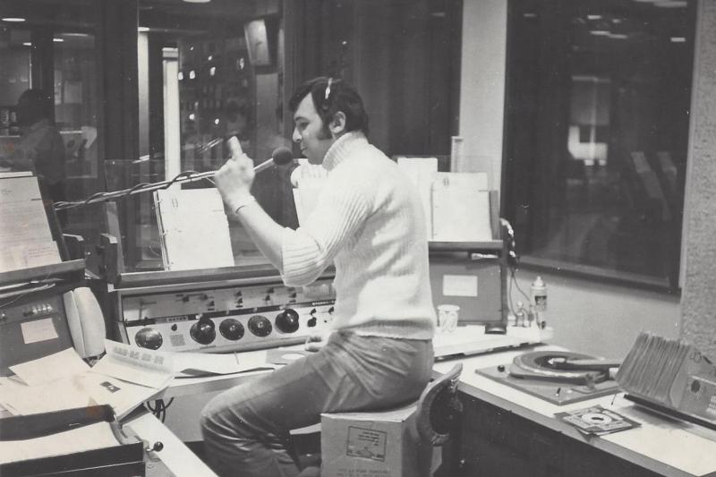 "At WDRC, ""The Big D,"" in Hartford, CT, 1971 - a Top 40 DJ!"