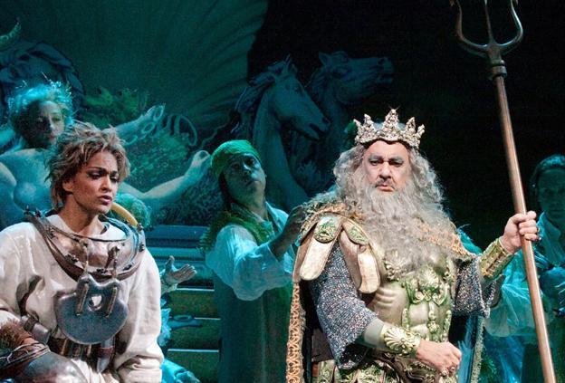 Danielle de Niese sings Ariel and Plácido Domingo sings Neptune in The Metropolitan Opera's THE ENCHANTED ISLAND.