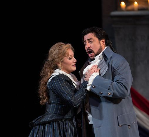 Soprano Patricia Racette sings Maddalena, and tenor Marcelo Alvarez sings the title role in ANDREA CHENIER.