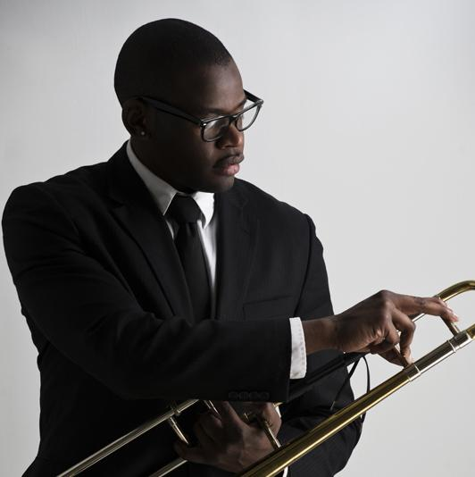 Trombonist Ernest Stuart is founder of the Center City Jazz Festival