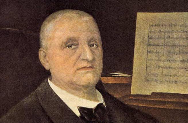 Austrian composer Anton Bruckner (1824 - 1896)