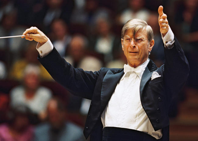 Swedish conductor Herbert Blomstedt