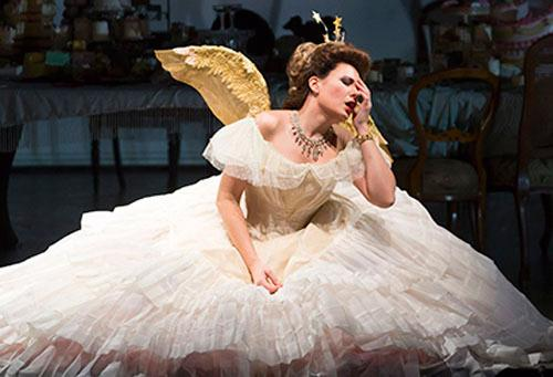 Soprano Marina Rebeka sings Violetta in Verdi's LA TRAVIATA.