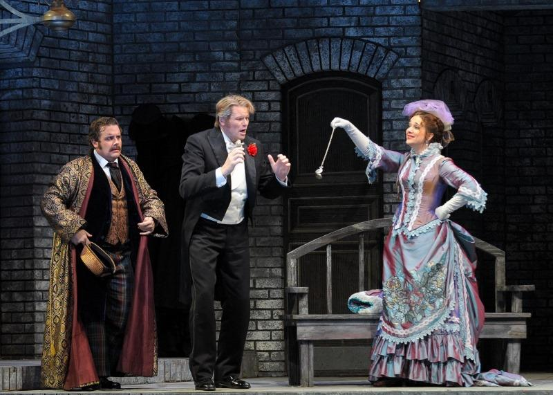 Michael Spyres, Bo Skovhus, and Juliane Banse in Lyric Opera of Chicago's Die Fledermaus