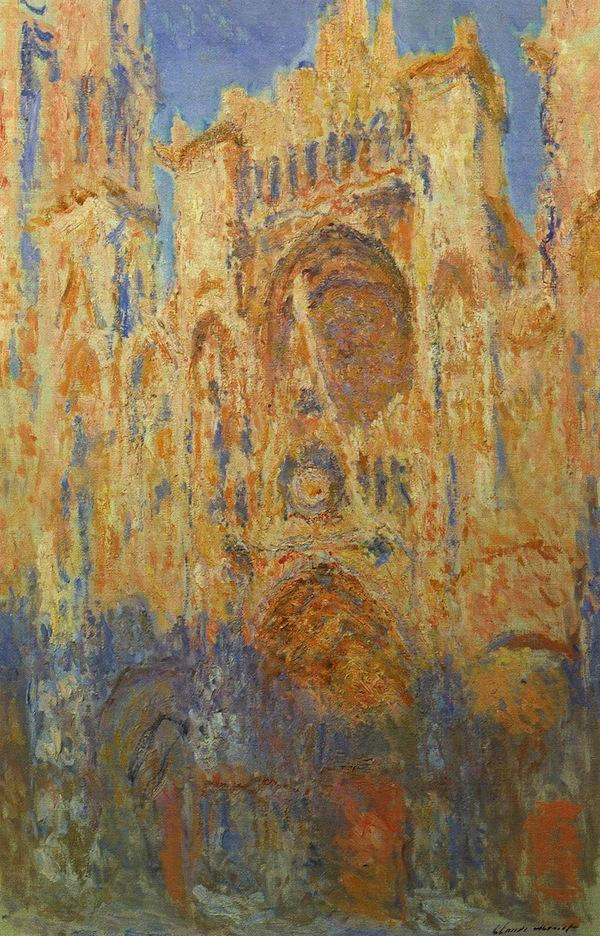 Claude Monet: Rouen Cathedral, Facade (Sunset)