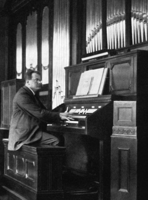 Max Reger at the organ, 1913
