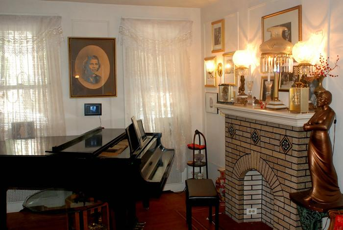 The piano in Marion Anderson's house where Blanche Burton-Lyles played for her mentor.