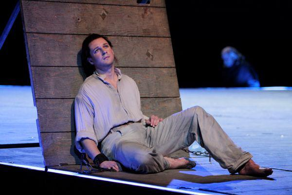 Baritone Liam Bonner sings the title role of Billy Budd, the perfect British seaman.
