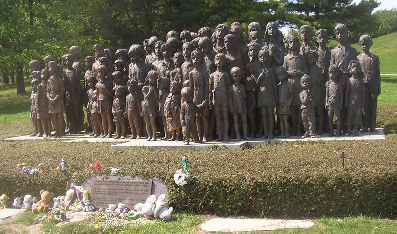 A memorial to 82 Lidice children murdered by the Nazis in Chełmno extermination camp.