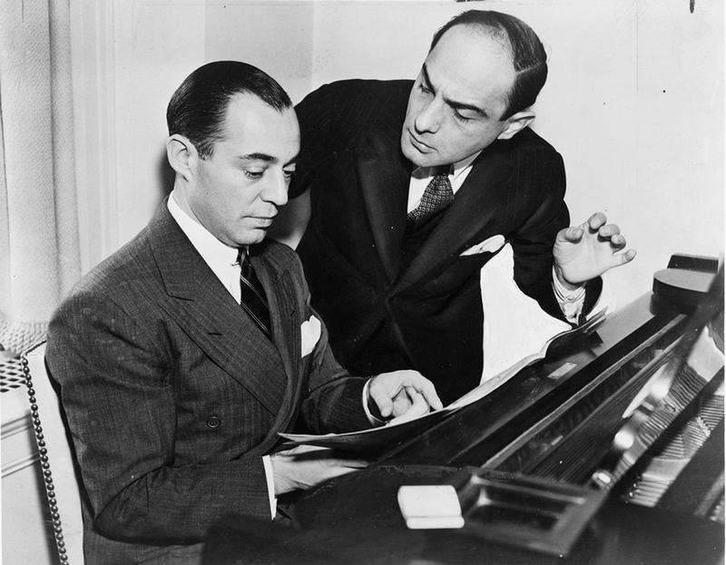 Richard Rodgers (left) with Lorenz Hart in 1936