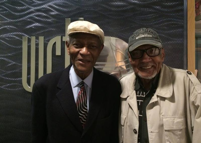 Two legends! McCoy Tyner and Bob Perkins at WRTI on March 31, 2015