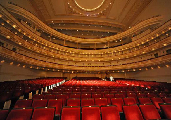Interior of Carnegie Hall