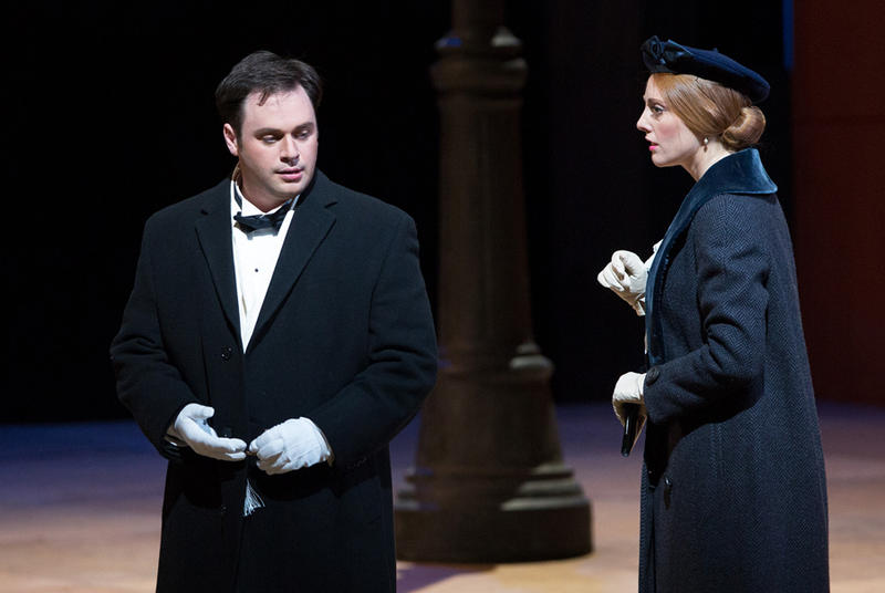 Paul Appleby as Tom Rakewell and Layla Claire as Anne Trulove in Stravinksky's THE RAKE'S PROGRESS.