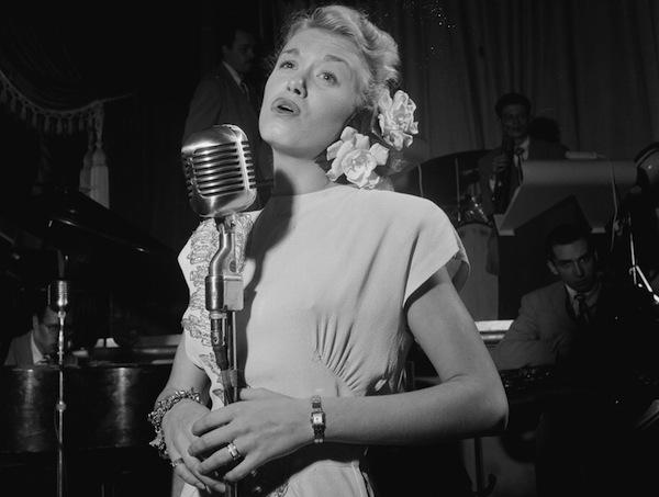 June Christy with Red Rodney at Club Troubadour, New York, ca. Sept. 1947