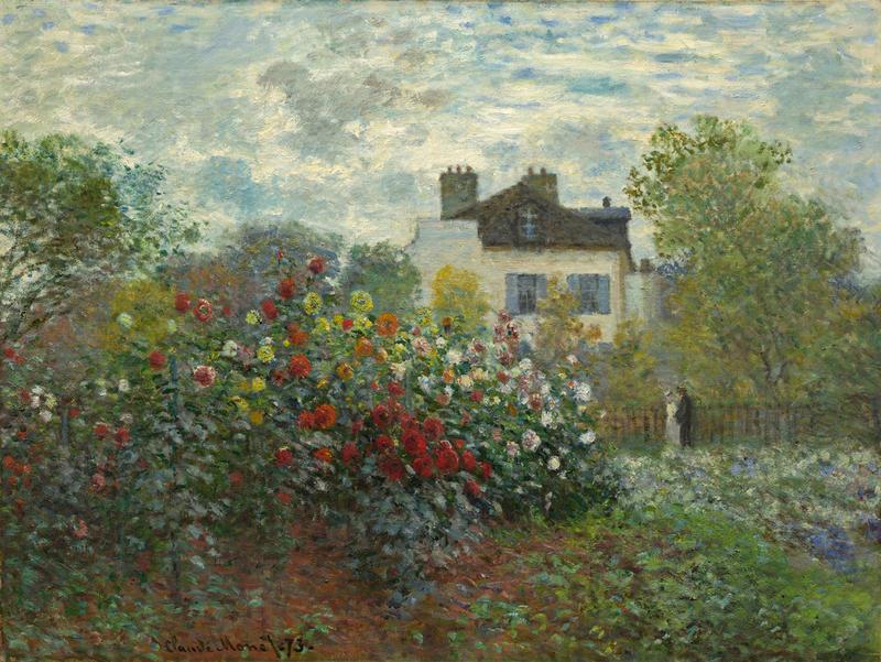 The Artist's Garden in Argenteuil (A Corner of the Garden with Dahlias), 1873. Claude Monet