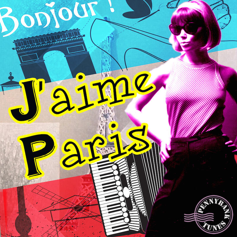 """Pennybank Tunes describes this new release of production music as """"a nostalgic voyage to the streets of Paris... featuring accordion, minimalist themes in a tribute to French cinema with melancholic & sentimental piano, violin and retro vibes."""""""