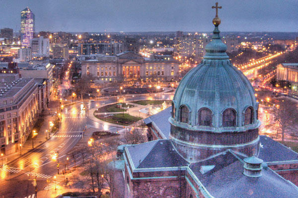 View from the Cathedral Basilica of Saints Peter and Paul