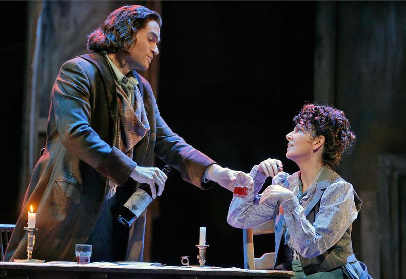 Tenor Michael Fabiano sings Rodolfo and soprano Alexia Voulgaridou star in San Francisco Opera's production of LA BOHEME.