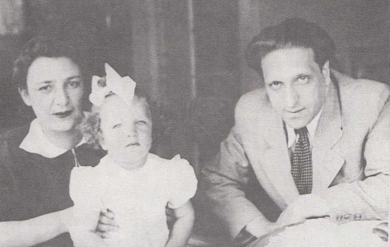 Composer Pavel Haas with with his wife Sonia and daughter Olga (1940). He died at age 45.