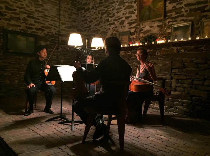 Concordia Chamber Players perform at the intimate Trinity Church in Solebury, PA.