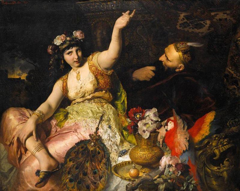 Sheherizade und Sultan Schariar, 1880, by Ferdinand Keller