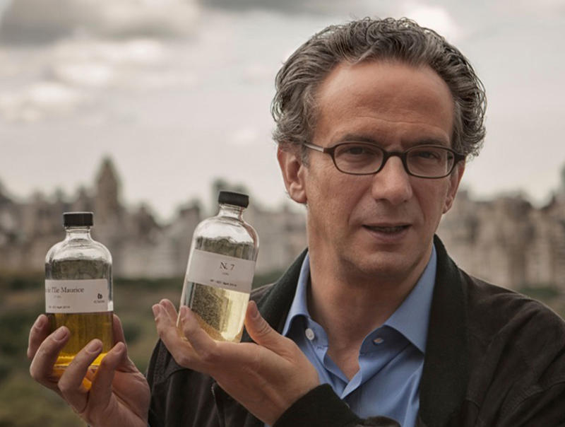 Conductor Fabio Luisi displaying some of his fragrances