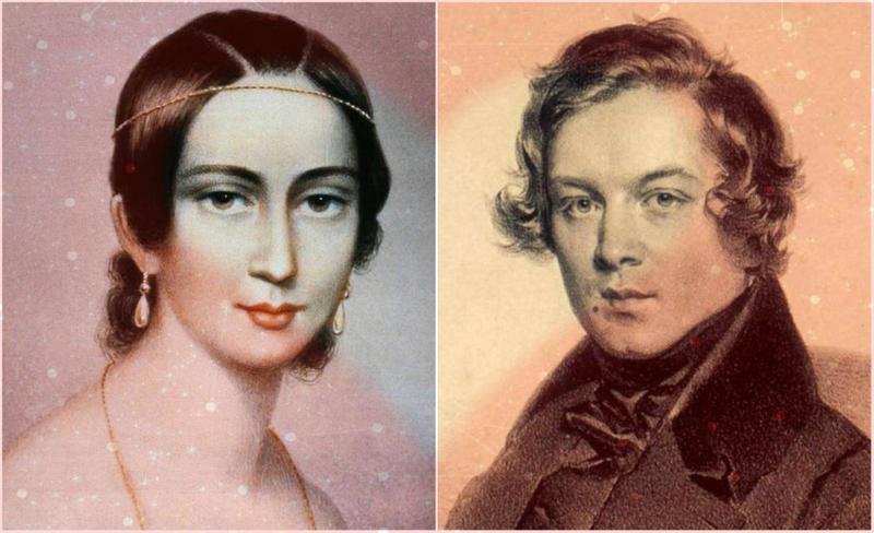 Clara Wieck Schumann (1819 - 1896), and her husband Robert Schumann (1810 - 1856)