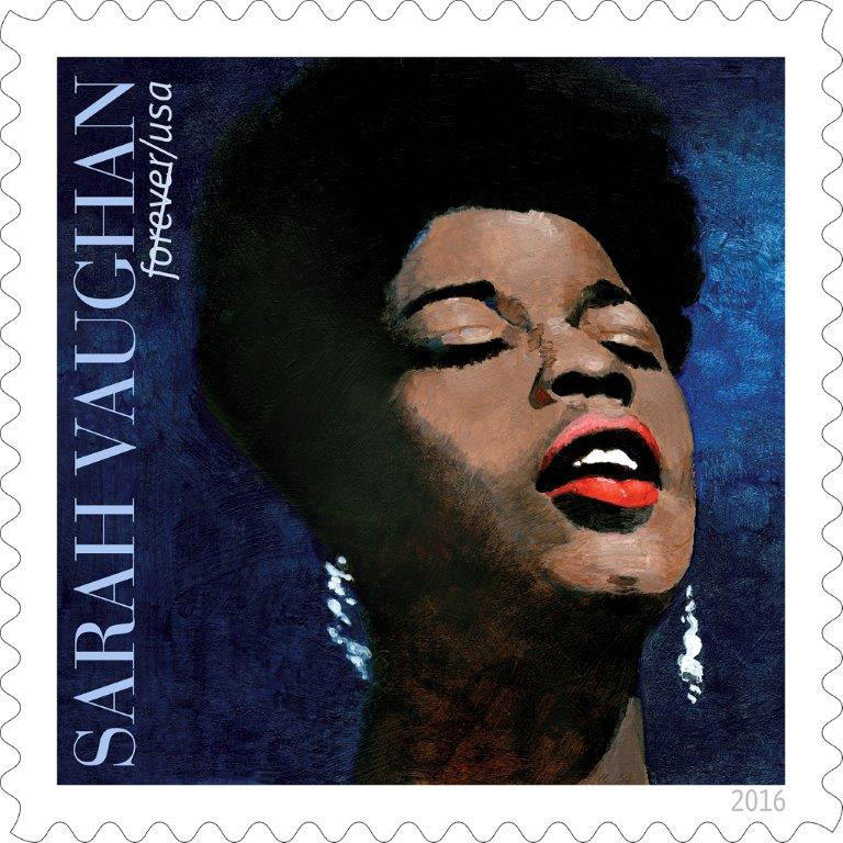 """""""The Divine One"""" - Jazz chanteuse Sarah Vaughan (1924-1990) has been memorialized by the U.S. Postal Service."""