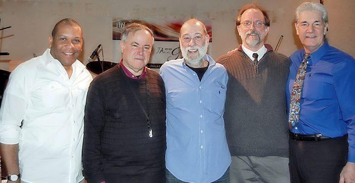 The Jazz Sanctuary Quintet, (left to right) - Leon Jordan, Eddie Etkins, Alan Segal, Randy Sutin and George Sinkler