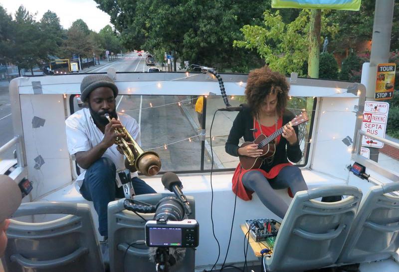 Double Decker Music Series instrumentalists Koofreh Umoren and Vessna Scheff