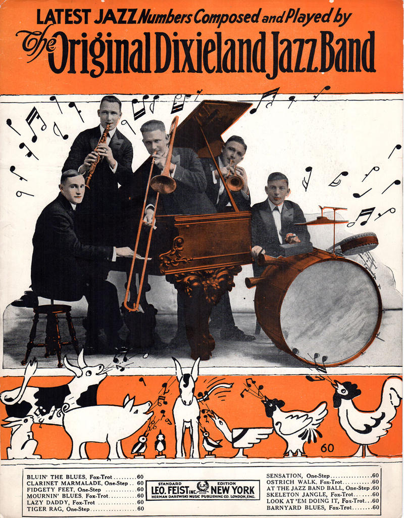 "The Original Dixieland Jazz Band recorded and copyrighted the famous jazz standard ""Tiger Rag"" in 1917."