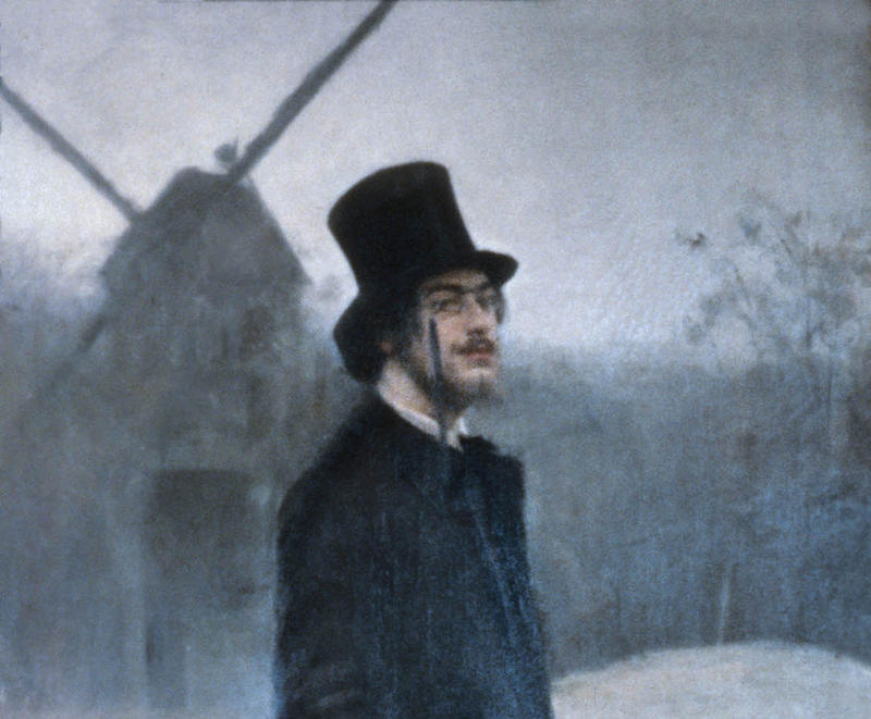 SATIE, Moulin de la Galette (The bohemian), Ramon Casas i Carbó, (1891), Detail