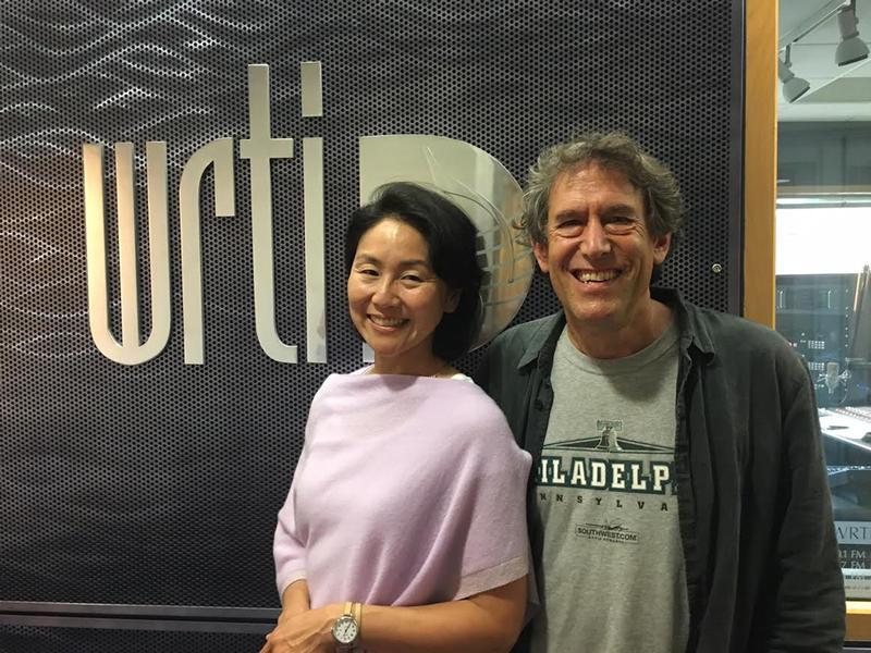 Debra Lew Harder and Hankus Netsky at WRTI in Philadelphia.
