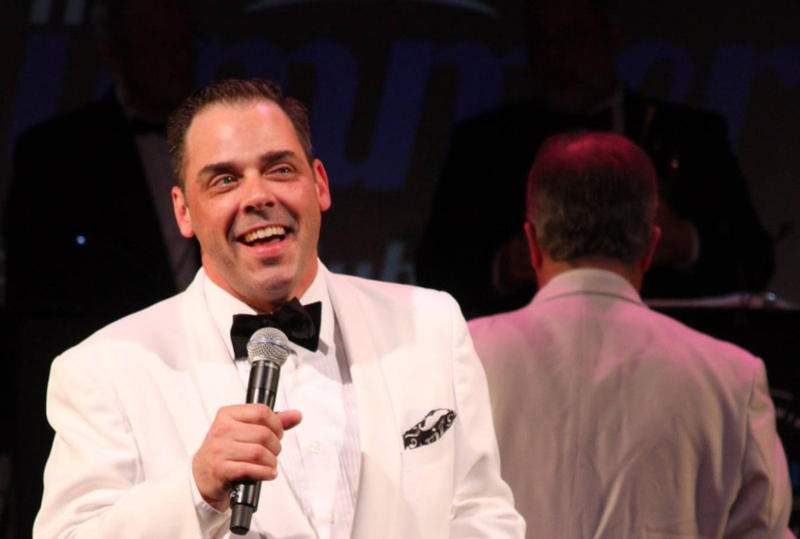Actor and singer Jeff Coon performing with The Summer Club.
