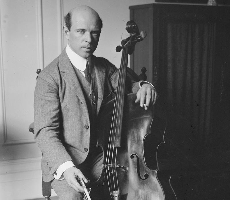 Cellist Pablo Casals, 1917