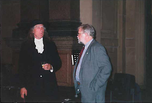Chatting with William Penn.