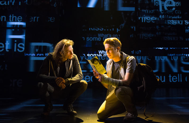 A scene from DEAR EVAN HANSEN. (left to right) Mike Faist and Ben Platt.