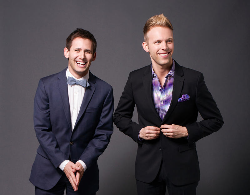 """Benj Pasek and Justin Paul, who have been been writing songs together since they were in college, won a 2017 Academy Award and a Golden Globe Award for writing the lyrics to the song """"City of Stars"""" from the hit film La La Land."""