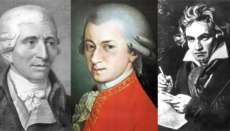 Joseph Haydn ( 1732-1809), Wolfgang Amadeus Mozart (1756-1791), Ludwig van Beethoven (1770-1827)