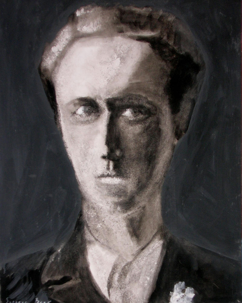 Portrait of Joseph Beer (1908-1987) by his daughter Suzanne Beer. She was named after her father's sister who died at Auschwitz.