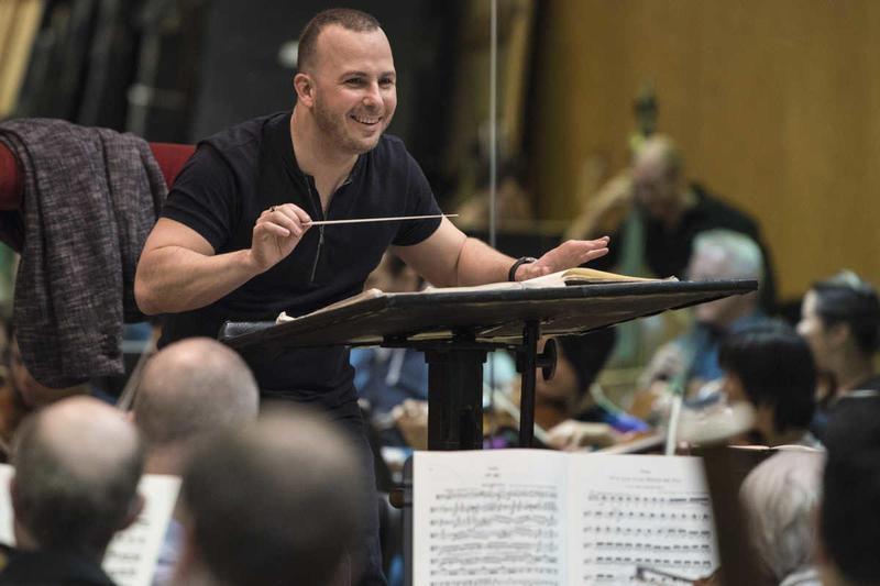 Yannick Nézet-Séguin rehearsing with the Metropolitan Opera