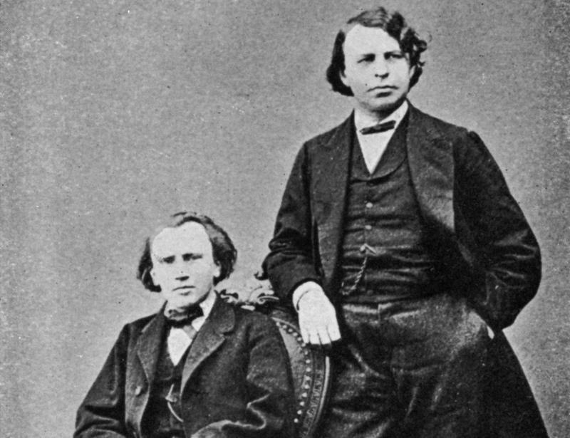 Johannes Brahms (1833-1897) and Joseph Joachim (1831-1907)