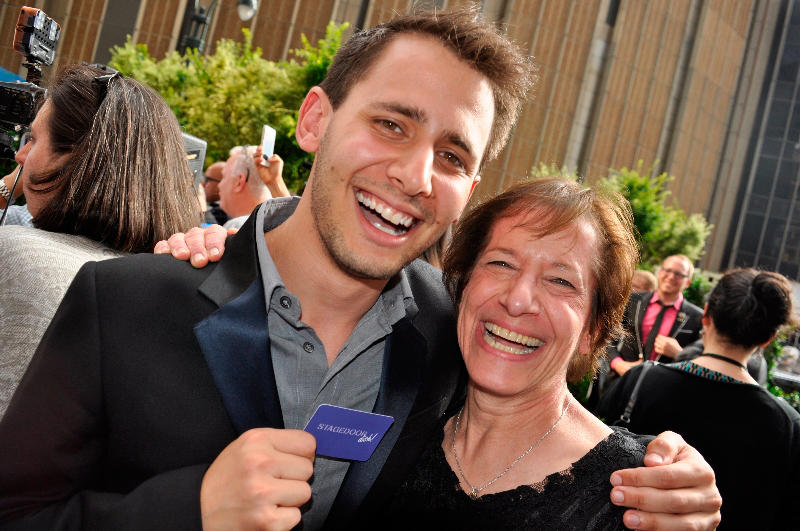 Academy-Award winning songrwiter Benj Pasek with his mom, Kathy Hirsh-Pasek, a psychology professor at Temple University who studies the importance of playtime for children.